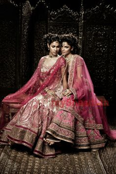 Indian Bridal Wear for #Desi #IndianWEdding by http://www.TarunTahiliani.com/ nice colours together