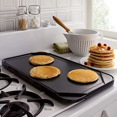 Reversible Double Griddle in Top Cookware, Bakeware | Crate and Barrel