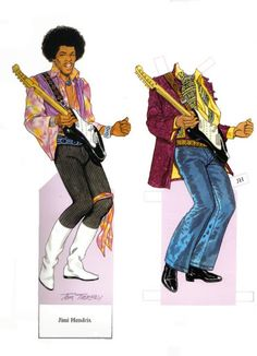 PD348 - Jimmy Hendrix Paperdoll by Tom Tierney