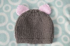 New to BobtailsBoutique on Etsy: Cat Ear Hat Bunny Ear Hat Teddy Ear Hat 0-6 months through to 2-3 years (6.00 GBP)