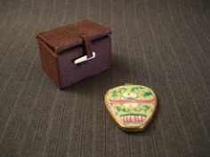 Small Oriental Painted Pottery Shard Pendant, with Gift Box [Vintage] by MaGriffeBoutique on Etsy