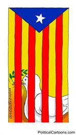 The peace in Cataluña/La paz en Cataluña by Arcadio Esquivel, Costa Rica, Caglecartoons.com