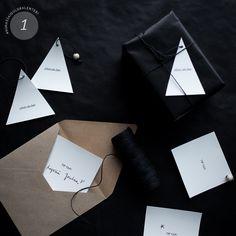 LUUKKU 1: MINIMALISTINEN JOULUKORTTI  Minimalistic x-mas card / Scandinavian Christmas inspiration