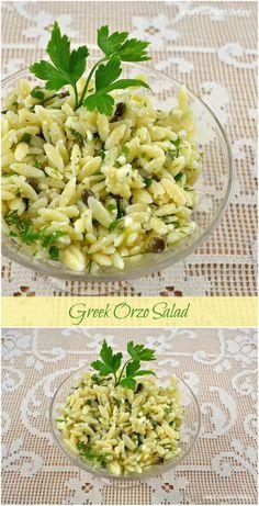 Greek Orzo Salad | Simply Southern Baking
