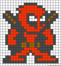 Deadpool Marvel perler bead pattern