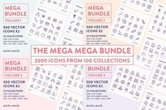 Line Icons – Mega Bu