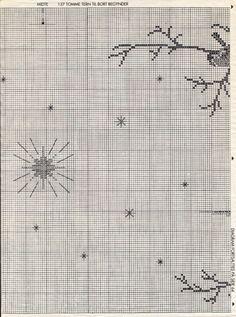 Xmas Cross Stitch, Cross Stitch Borders, Cross Stitch Charts, Cross Stitching, Cross Stitch Patterns, Felt Embroidery, Creative Embroidery, Cross Stitch Embroidery, Cross Stitch Landscape