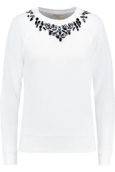 MICHAEL MICHAEL KORS Embellished cotton-blend sweater £45 http://www.theoutnet.com/products/666044