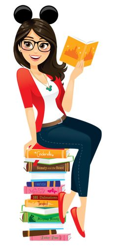 Be A Nerd - I am a Disney Nerd!this looks like me in cartoon form.the hair, the glasses, the eyes, the books, the everything Disney related. Disney Magic, Walt Disney, Disney Nerd, Disney Girls, Disney Love, Disney Princess, Disney Stuff, Disney And Dreamworks, Disney Pixar