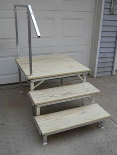 Portable RV Deck with Steps and Railings | eBay