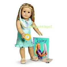 AMERICAN GIRL Doll Kailey Meet Outfit Bag Frisbee~Sundress~Beach Dress*Kanani