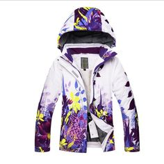 4996fe9708 2018 Kids Ski Jacket Boys Girls Skiing Snowboard Jacket Windproof Waterproof  Hooded Flower Style Super Children Warm Clothing. Yesterday s price  US   70.00 ...