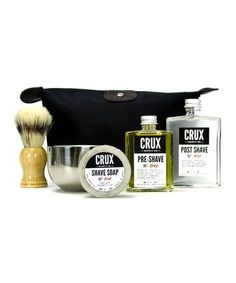 Featuring a shave soap, post-shave tonic, shaving brush and shaving bowl, this kit pampers his skin and gives him a smooth, clean shave. Its zippered waterproof pouch keeps items dry. Shaving Oil, Shaving Brush, Shaving & Grooming, Men's Grooming, Design Shop, Best Gifts For Men, Cool Gifts, Gift Guide For Him, Pre Shave