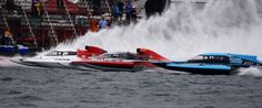 Photo - by Doug G Ostrowski Régates de Valleyfield, Quebec, Canada. Boat Class is Grand Prix Hydroplanes...150 miles down the straight-away!  1000-plus Horsepower! Whew!!