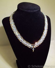 Swarovski Gold Woven Crystal Necklace $99.99 @TheCraftStar #uniquegifts #UBG  Special Promo Codes for 10% to 30% off