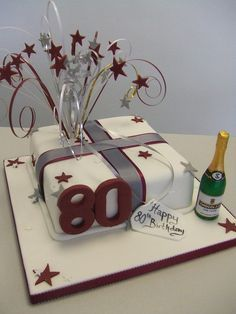 80th birthday cakes celebration
