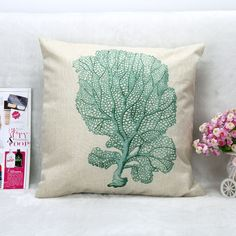 "Tropical Cotton Linen Pillow Case 45*45cm (18""x18"")"