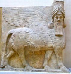 Many ancient Assyrian statues destroyed in Iraq this week.