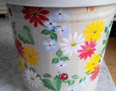 10 galones pintado galvanizado a mano puede por krystasinthepointe