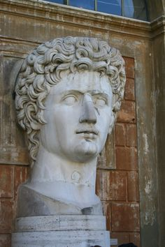 Colossal head in the Vatican Museums.