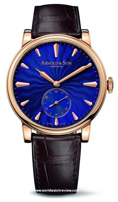 Arnold & Son HMS1 Royal Blue Automatic Wrist Watch in Rose Gold (Ref. 1LCAP.U02A.C110A)