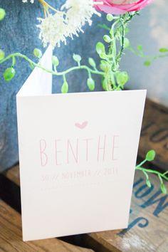 Geboortekaartje meisje Benthe