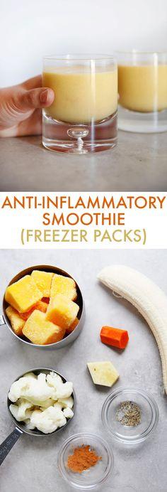 Anti-Inflammatory Smoothie Freezer Packs - Lexi's Clean Kitchen Anti-Inflammatory Smoothie Freezer Packs – Lexi's Clean Kitchen Healthy Smoothies, Healthy Drinks, Smoothie Recipes, Healthy Snacks, Healthy Juices, Smoothie Diet, Fruit Smoothies, Anti Bloat Smoothie, Clean Smoothie