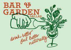 Collateral design for Bar & Garden Dallas / 2018 Collateral Design, Graphic Design Branding, Graphic Design Posters, Identity Design, Graphic Design Illustration, Graphic Design Inspiration, Logo Design, Food Branding, Art Plastique
