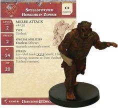 Spellstitched Hobgoblin Zombie #43 Deathknell D&D Miniatures DDM