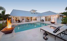 Backyard pool and hot tub