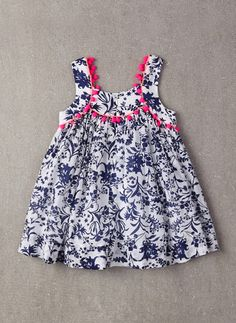 Nellystella Clementine Dress in Floral Motif - FINAL Baby Girl Frocks, Frocks For Girls, Little Girl Dresses, Girls Frock Design, Baby Dress Design, Baby Frocks Designs, Kids Frocks Design, Toddler Dress, Toddler Outfits