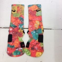 """Custom nike elite socks """"gummy bears"""""""
