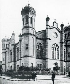 Die Synagoge der liberalen jüdischen Gemeinde in Darmstadt, um 1910?