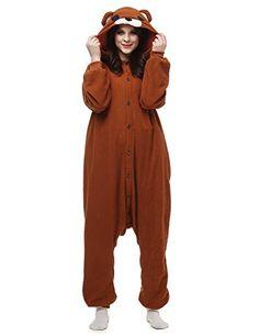 Belle House Brown Bear Pajamas Animal Costume Onesie Adults Sleepsuit Kigurumi Cosplay AC062 -- Amazon most trusted e-retailer  #Onesies