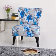 Cora Patterned Fabric Side Chair