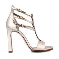 Sandalo Donna Fabi F2294 LUCE IVORY - Fabi  @fabishoes #heels #sandals #silver #golden #shoes #summershoes Golden Shoes, Ivory, Heels, Silver, Fashion, Chic, Heel, Moda, Gold Shoes