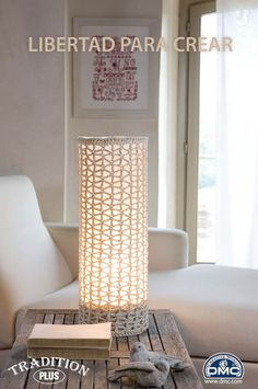 Lampe Crochet, Crochet Lampshade, Crochet Jar Covers, Diy Lampe, Crochet Home Decor, Diy Chandelier, Modern Crochet, Home Decor Items, Home Decor Inspiration