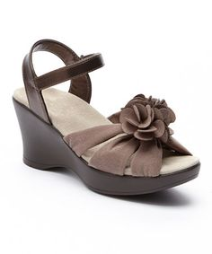 Love this Cocoa Hana Wedge Sandal by AKAISHI on #zulily! #zulilyfinds