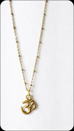 OM NECKLACE gold om necklace tiny om necklace yoga