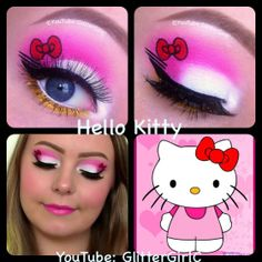 Cute Hello Kitty Halloween  Makeup