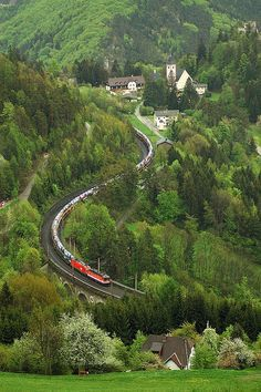 #Semmeringbahn (#Austria). 'The monumental Semmeringbahn is a panoramic journey through the Eastern Alps and a nostalgic trip back to early rail travel. Though steam has been replaced by electricity, you can still imagine the wonder of the first passengers as the train curves around 16 viaducts, burrows through 15 tunnels and glides across 100 stone bridges.' http://www.lonelyplanet.com/austria