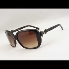 Check out Chanel 5171 Sunglasses Bow Ribbon Brown Tortoise CC Logo Oversized Square on Threadflip!