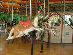 Carousel Animals | carving antique wooden animals symbolizes the difficult animals have a