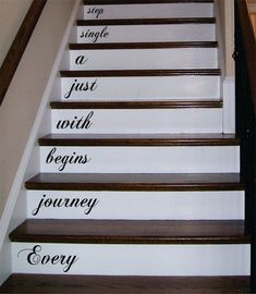 Every Journey Stairs Decor Decal Sticker Wall Vinyl Art - boop decals - vinyl decal - vinyl sticker - decals - stickers - wall decal - vinyl stickers - vinyl decals