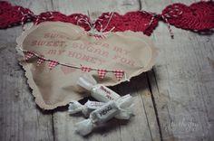 enveloppe en coeur & papier craft