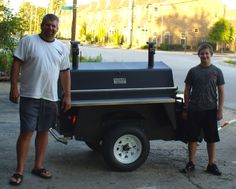 Bruce and Brady Picking Up Their Tucker Cooker