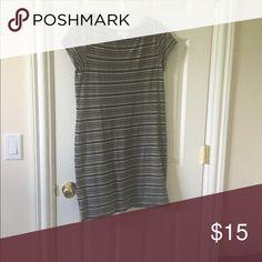Loft T shirt dress Stripe dress by Loft Ann taylor loft Dresses Midi