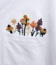 Excited to share this item from my shop: PDF Pattern Wild Flowers DIY - Thread Unraveled - Beginner Embroidery Pattern - Embroidered Shirt - T-Shirt Embroidery Flowers Pattern, Hand Embroidery Designs, Vintage Embroidery, Embroidery Ideas, Embroidered Flowers, Couture Embroidery, Japanese Embroidery, Hand Embroidery Stitches, Diy Fashion Embroidery