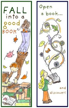 Just For You - Fall Into Reading Bookmarks! - Things to Make and Do, Crafts and Activities for Kids - The Crafty Crow Reading Bookmarks, Bookmarks Kids, I Love Books, Good Books, Bookmark Printing, Free Printable Bookmarks, Library Activities, Little Library, Elementary Library
