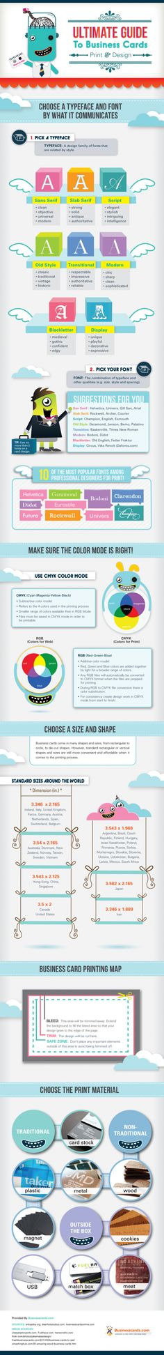 Business card guide